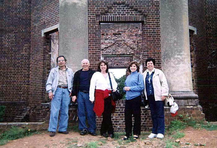 11. At the Ruins of Virginia Governor Barbour's mansion
